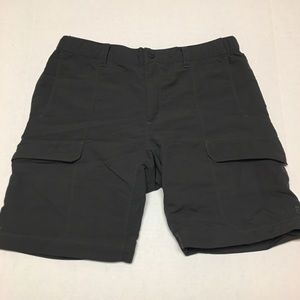 The north face athletic gray logo cargo shorts